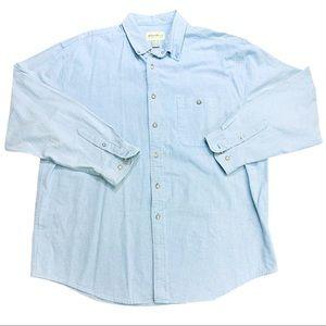 Eddie Bauer Cotton Blue Flannel Shirt XL #80